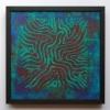 Deuxième, 30 x 30, acrylic, 2017, framed